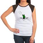 Fishing Women's Cap Sleeve T-Shirt