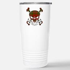 Scott Tartan Skull Travel Mug