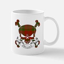 Scott Tartan Skull Mug