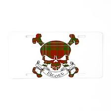 Scott Tartan Skull Aluminum License Plate