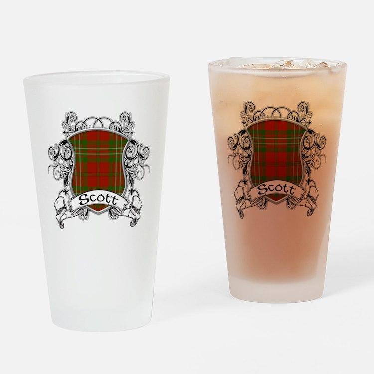 Scott Tartan Shield Drinking Glass