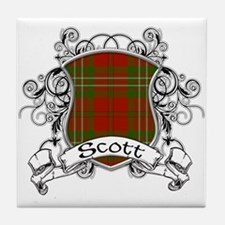 Scott Tartan Shield Tile Coaster
