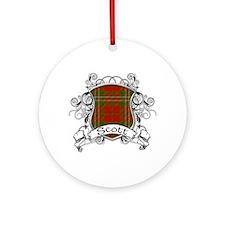 Scott Tartan Shield Ornament (Round)