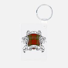 Scott Tartan Shield Aluminum Photo Keychain