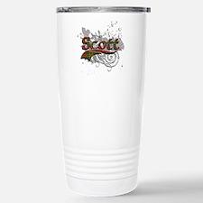 Scott Tartan Grunge Travel Mug