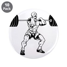 "Weight Lifting 3.5"" Button (10 pack)"