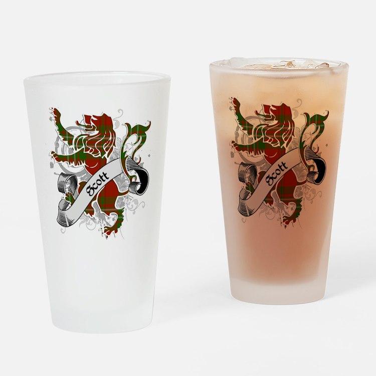 Scott Tartan Lion Drinking Glass