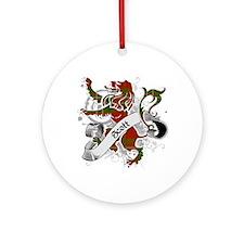 Scott Tartan Lion Ornament (Round)