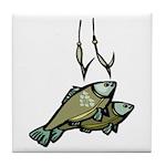Fishing 2 Tile Coaster