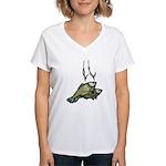 Fishing 2 Women's V-Neck T-Shirt