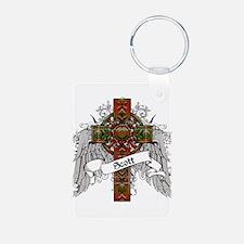 Scott Tartan Cross Keychains