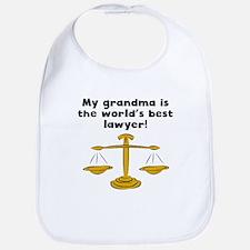 My Grandma Is The Words Best Lawyer Bib