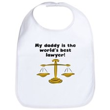 My Daddy Is The Words Best Lawyer Bib