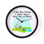 A Bad Day Fishing... Wall Clock