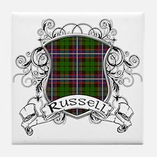 Russell Tartan Shield Tile Coaster