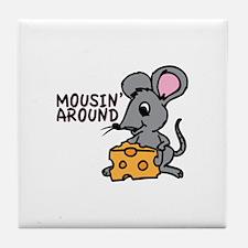 Mousin Around Tile Coaster