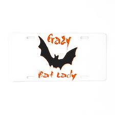 Crazy Bat Lady Aluminum License Plate
