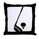 Golf Club & Ball Throw Pillow