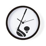 Golf Club & Ball Wall Clock