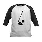 Golf Club & Ball Kids Baseball Jersey