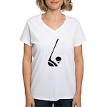 Golf Club & Ball Women's V-Neck T-Shirt