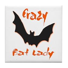Crazy Bat Lady Tile Coaster