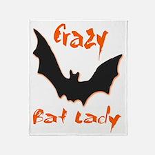 Crazy Bat Lady Throw Blanket