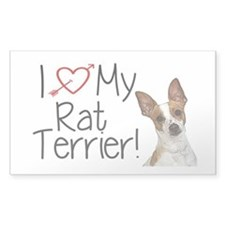 Rat Terrier Car Sicker Decal