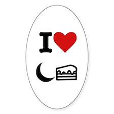 """I heart moon cake"" Decal"