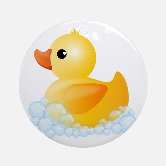 Rubber Duck Ornament (Round)