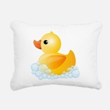 Rubber Duck Rectangular Canvas Pillow