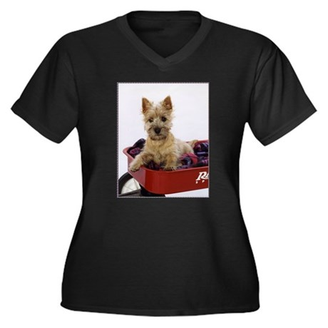 Baby Cairn Terrier Women's Plus Size V-Neck Dark T