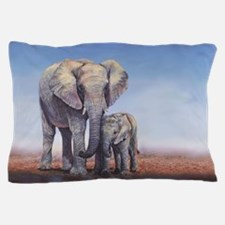Elephants Mom Baby Pillow Case
