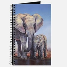 Elephants Mom Baby Journal