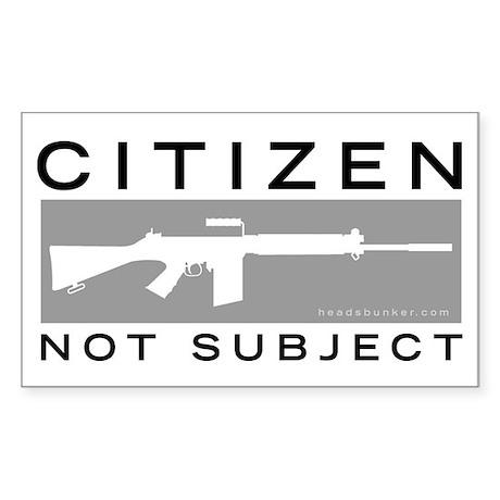 Citizen, Not Subject Sticker (Rect.)