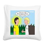 Tick Pet Square Canvas Pillow