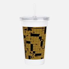 Abstract Crossword Puzzle Acrylic Double-wall Tumb