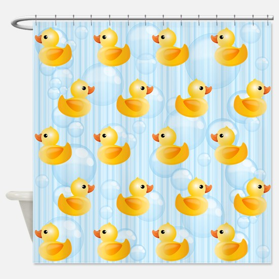 Little Yellow Ducks Shower Curtain