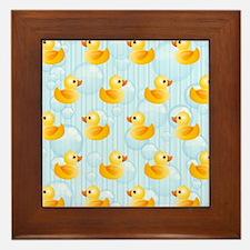 Little Ducks Framed Tile