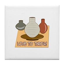 Love To Throw Tile Coaster