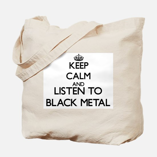 Cute Black metal Tote Bag