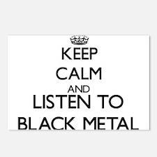 Cute Black metal Postcards (Package of 8)