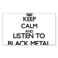 Keep calm and listen to BLACK METAL Decal