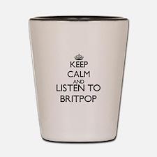 Cute Britpop Shot Glass