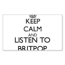 Keep calm and listen to BRITPOP Decal