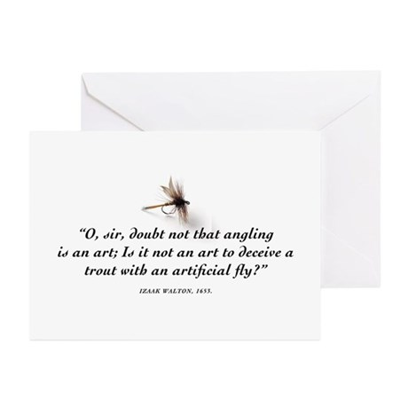 Angling is an art Greeting Cards (Pk of 10)