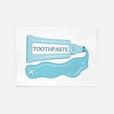 Sparkle Toothpaste 5'x7'Area Rug