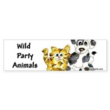 Cartoon kitten puppy Bumper Sticker