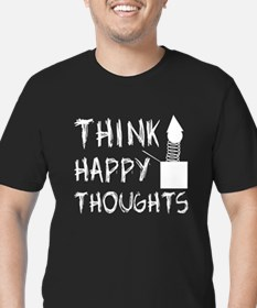 Think Happy Thoughts Men's Fitted T-Shirt (dark)