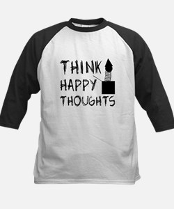 Think Happy Thoughts Kids Baseball Jersey